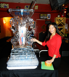 Siemens ice luge and Kristin Kim Haynes of IECRM