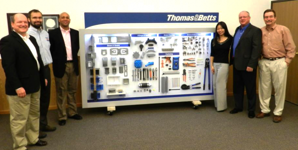 Thomas and Betts Display Board Donation to IECRM