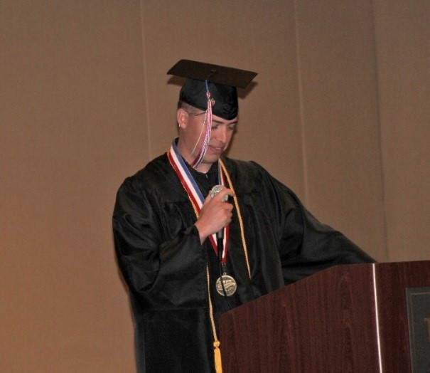 Kevin McEntee, Salutatorian 2015 – Addressing his fellow Alumni